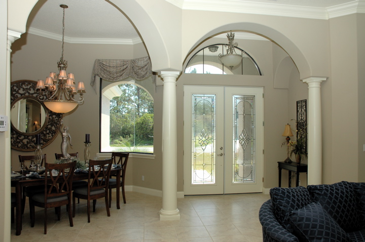 Entry way with formal dining room and french doors