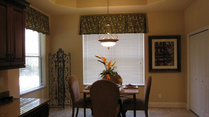 Dining area with two large windows for a great view