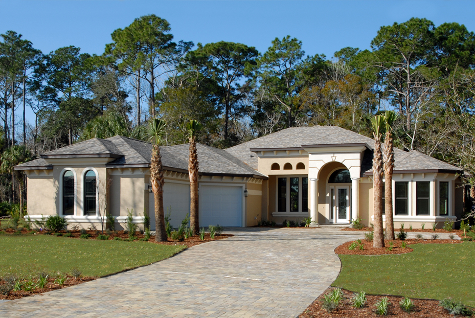 Outdoor view of Saint Kenny custom model home