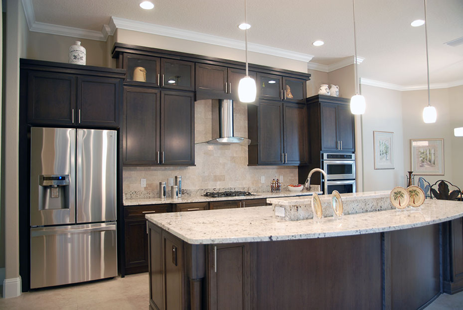 Large kitchen island in a custom model Saint Kenny