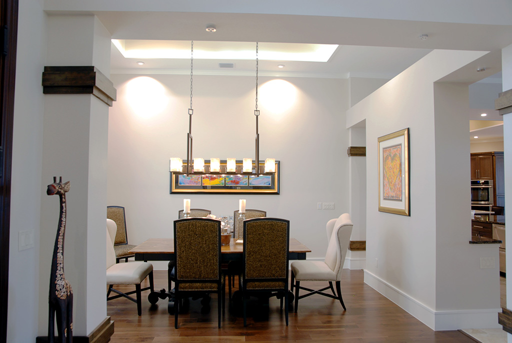 Dining area with formal dining table and chairs