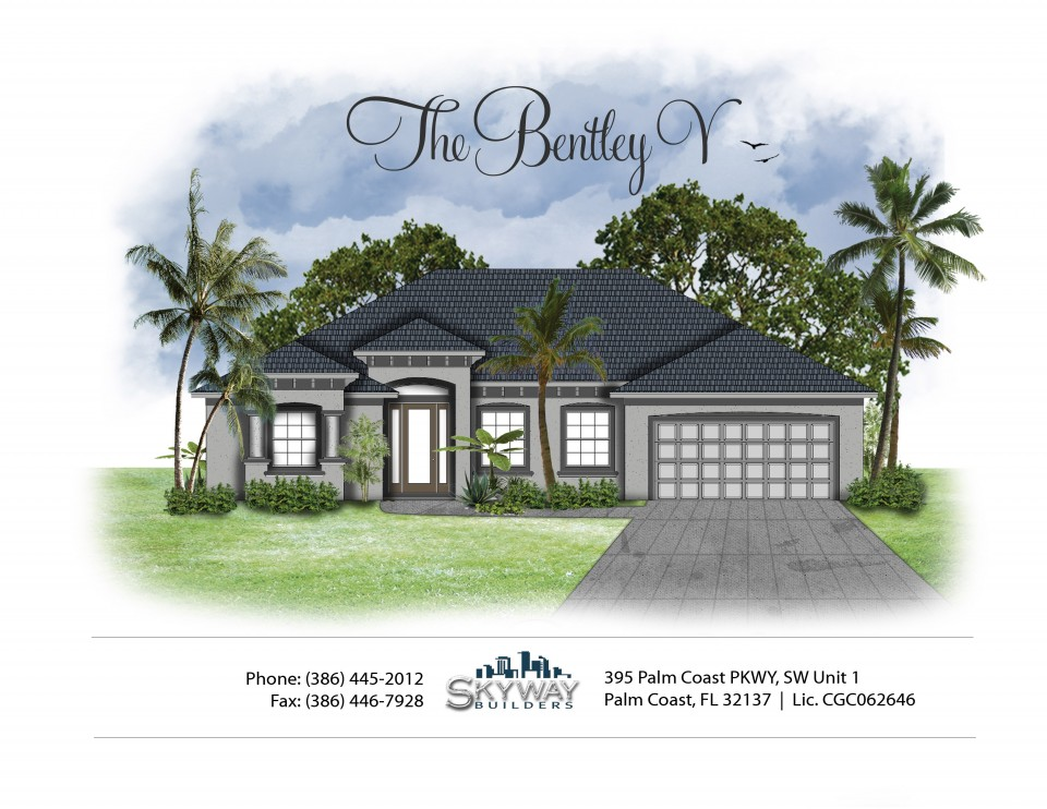 Illustration of custom home model The Bentley V