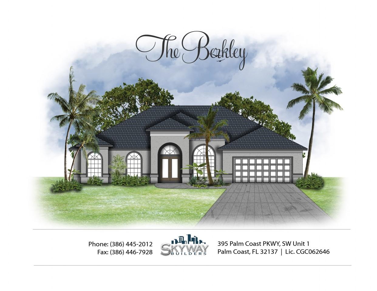 Illustrated mock up of the custom built Berkley home