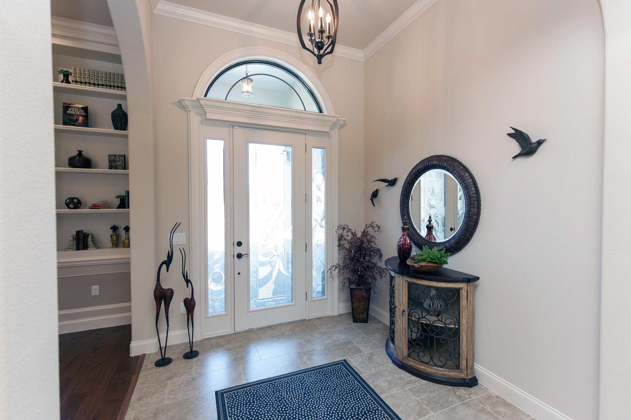 Inside of front door entrance of home
